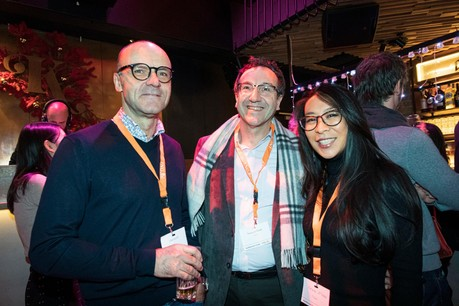 Carlo Klein, Thierry Leterre et Adrienne Leterre (MIami) (Photo: Patricia Pitsch/Maison Moderne)