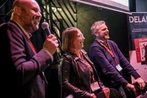 Duncan Roberts (Delano), Géraldine Hassler (KPMG Luxembourg) et Darren Robinson (Anderson Wise) ((Photo: Jan Hanrion / Maison Moderne))