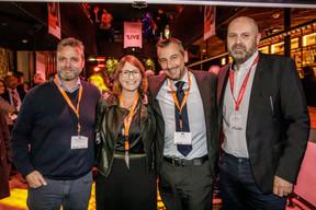 Darren Robinson (Anderson Wise), Géraldine Hassler (KPMG Luxembourg), Jim Kent (The Insiders) et Duncan Roberts (Delano) ((Photo: Jan Hanrion / Maison Moderne))