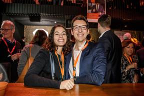 Laura Priolo (Société Générale) et Edwin Borgatti (Sofitex Talent Recruitment) ((Photo: Jan Hanrion / Maison Moderne))