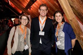 Rebecca Kellagher (British Chamber of Commerce), Andrew Notter (Anderson Wise) et Elisa Jensen (PwC) ((Photo: Jan Hanrion / Maison Moderne))