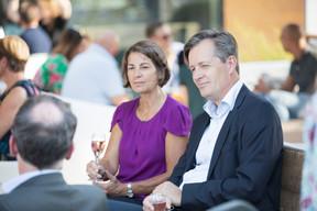 Tonika Hirdman (Fondation de Luxembourg) et Fredrik Sandberg ((Photo: Jan Hanrion/Maison Moderne))