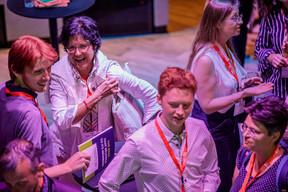 Grégoire Mathonet (LuxTrust), Claudine Nembrini (BIL), Moritz Ruhstaller (Luxembourg Youth Parliament) et Irina Holzinger (Indépendant) ((Photo: Jan Hanrion / Maison Moderne))