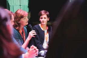 Fiona Godfrey (EPHA) et Joanne Goebbels (LSAP) ((Photo: Jan Hanrion / Maison Moderne))