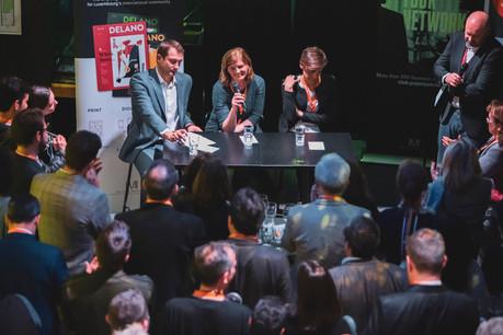 Christophe Hansen (CSV), Fiona Godfrey (EPHA) et Joanne Goebbels (LSAP) (Photo: Jan Hanrion / Maison Moderne)