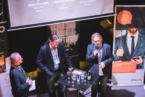 Aaron Grunwald (Maison Moderne), Christian Betzen (Amcellars) et Guy Tabourin (Vinoteca) ((Photo: Patricia Pitsch/Maison Moderne))