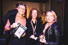 Romain Gerson, Sandy Gerson-Felten (Spuerkeess) et Carola Bedos (Maison Moderne) ((Photo: Patricia Pitsch/Maison Moderne))