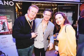 Denis Lecanu (Betic), Israel Ramos et Veronica Barros (BNP) ((Photo: Patricia Pitsch/Maison Moderne))