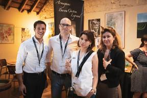 Charles Pozzo Di Borgo (Celis), Yannick Lang et Tatiana Lang (Banana Republic) et Magali Coyard (Santa Fe Relocation Luxembourg) ((Photo: Patricia Pitsch / Maison Moderne))