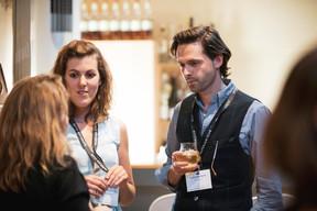 Elke Vanwijnsberghe (Profiler Consulting) et Frederick Bauwens (Crosslend) ((Photo: Patricia Pitsch / Maison Moderne))