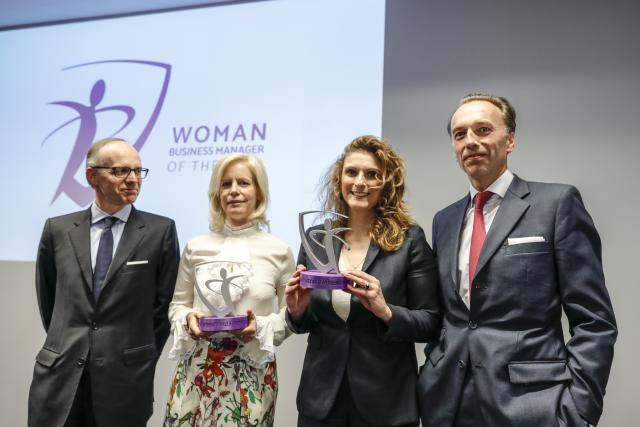 From left: Bil board of directors president Luc Frieden, Nathalie Dondelinger, Alexandra Fernandez-Ramos, and Bil CEO Hugues Delcourt Gaël Lesure