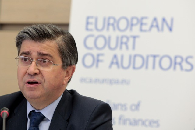 Archive photo: Baudilio Tomé Muguruza, Spain's member of the European Court of Auditors, speaks at a press conference in Brussels on 21 May 2014. Tomé Muguruza oversaw the 2016 audit of Euratom, the European nuclear power agency based in Luxembourg, which was released on 10 October 2017. European Commission