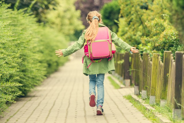 Children walking and cycling to school has declined over the last 20 years Shutterstock