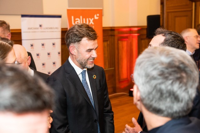 The Amcham winter reception on 24 February marked the first formal opportunity for Franz Fayot to address the business community since being appointed economy minister Photos: Lala La Photo LaLa La Photo