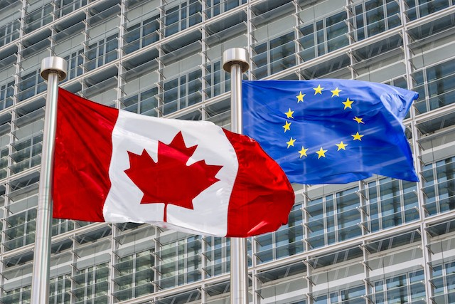 The Canada-EU Comprehensive Economic and Trade Agreement (CETA), has been approved by the European Parliament and provisionally entered into force in 2017. Shutterstock