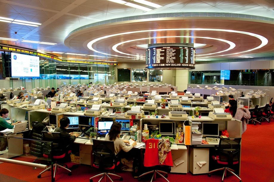 The Hong Kong stock exchange, where Xiaomi is floating the world's largest initial public offering since 2014. Ccmed
