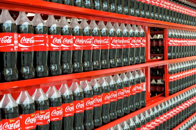 Coca-Cola produces 3m tonnes of plastic packaging a year – equivalent to 200,000 bottles a minute Shutterstock