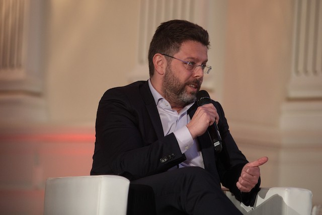 CLC director Nicolas Henckes is pictured speaking at the Annual Real Estate Meeting in January 2019 Matic Zorman/archives
