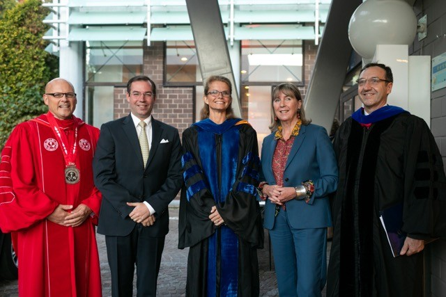 Dr. Gregory P. Crawford, Crown Prince Guillaume, Renate Crawford, Lydie Polfer and Dr. Thierry Leterre Matic Zorman