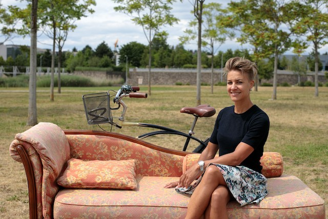 Ina de Visser, pictured, is far from being an armchair cyclist. Matic Zorman