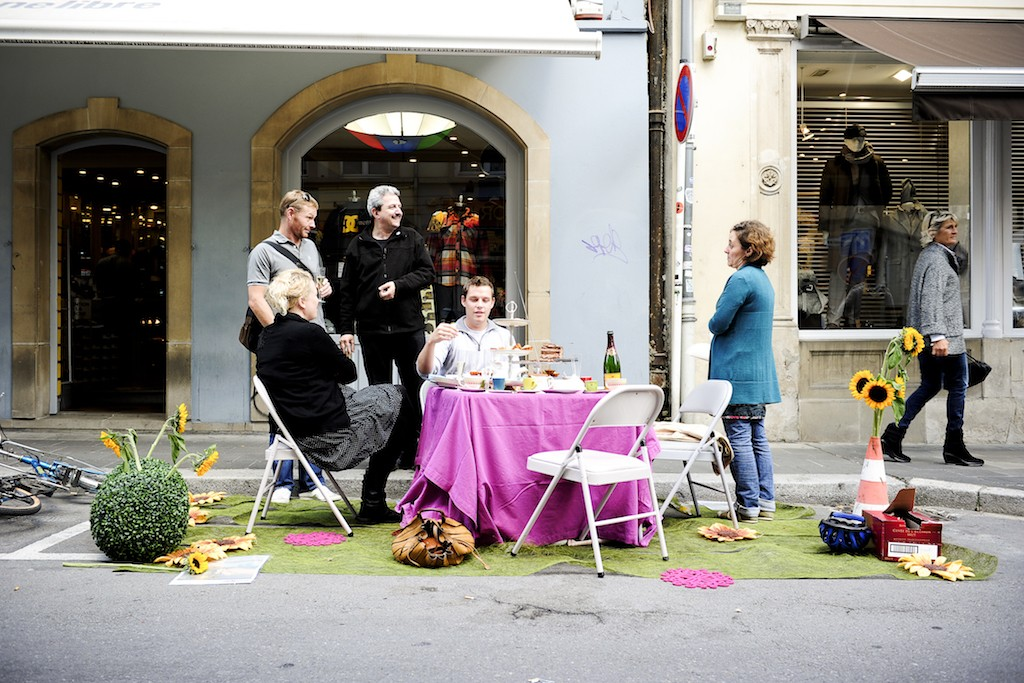 """In 2010 Luxembourg City joined in the annual global """"PARK(ing) Day"""" event, which allowed city dwellers to transform metered parking spots into temporary parks for the public good. David Laurent archives"""