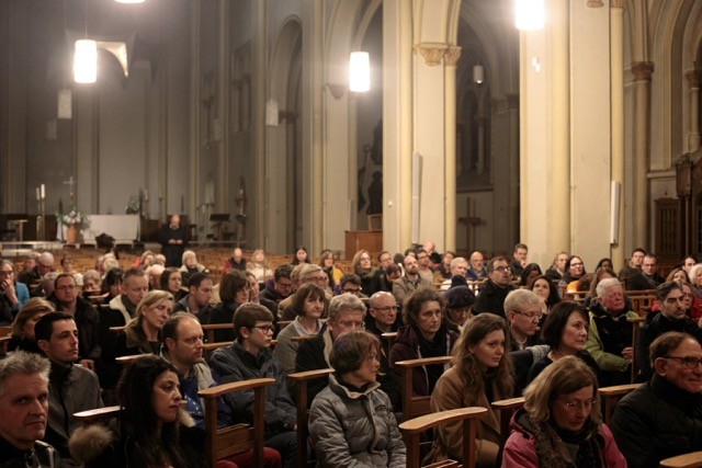 More than 100 people attended a vigil at the St. Alphonse church Matic Zorman/Maison Moderne
