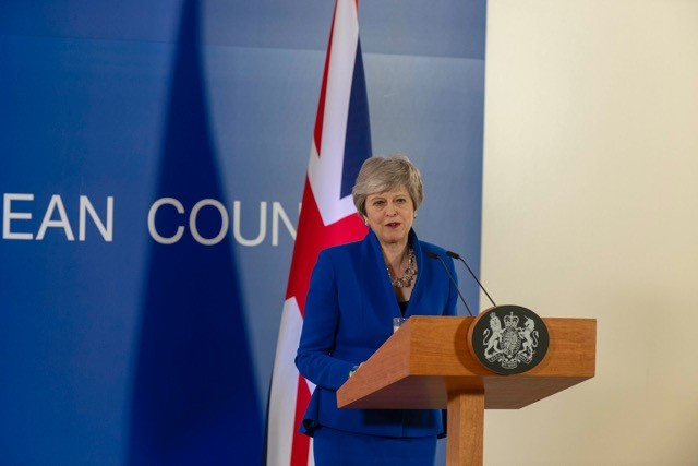 Theresa May at a press conference following Wednesday's European Council special meeting on Article 50. A new Tory leader and prime minister will not bring with them a fresh solution to the crisis, says Tom Kibasi. European Union