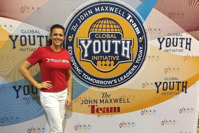 """Annica Törneryd, the coach for the """"Global Youth Initiative"""" in Luxembourg, which will take place in October 2017. She is seen in Orlando, Florida, where Törneryd trained with 2,200 other coaches from around the world, in August 2017. Annica Törneryd"""