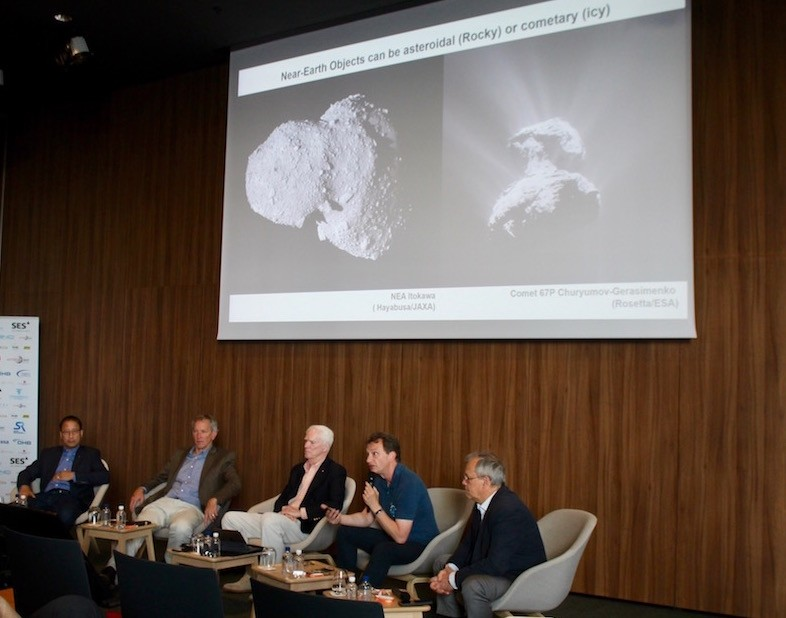 Former astronauts and physicists were on the panel discussing asteroid tracking and planetary defence Sofia Mikton