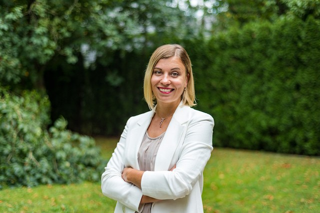 Valeriya Pichurina, marketing and communications manager at East-West United Bank, spent the first 12 years of her life in Siberia and moved to Luxembourg in 2014. Mike Zenari
