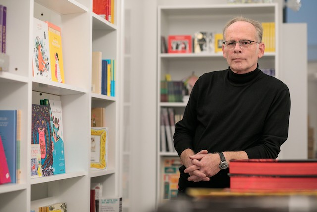 Hans Fellner, shown here in an archive image from 2018,travelled to book fairs and wholesalers to hand pick the selection in his shop Matic Zorman/archives