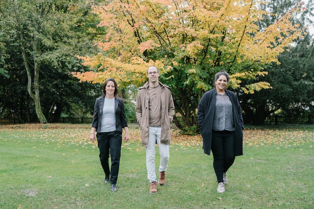 The Connections' Zina Menhal with colleagues Marc Piron and Myriam Abaied Marion Dessard