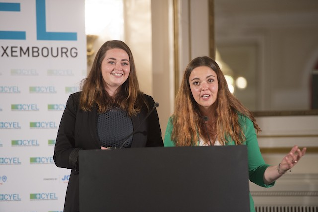 Ilana Delivers and Xénia Ashby at the 2019 CYEL Creative young entrepreneur of the year awards Anthony Dehez/archives