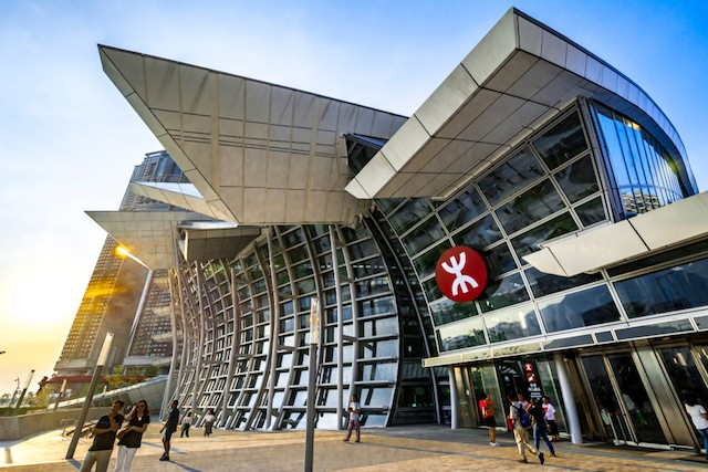 Main entrance of West Kowloon High Speed Rail Station in Hong Kong operated by MTR Shutterstock