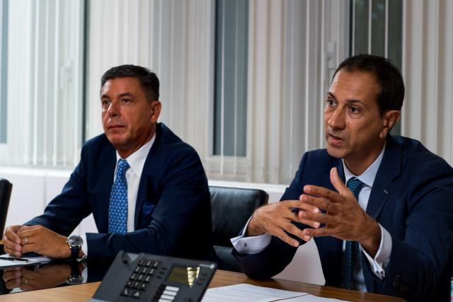 Jean-Pierre Murgia (head of real estate & facility services) and Christophe Velle (CEO), Intesa Sanpaolo Holding International Nader Ghavami