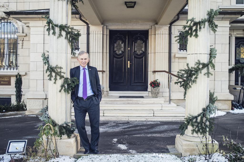US ambassador David McKean outside the US embassy residence. (Photo: Mike Zenari)
