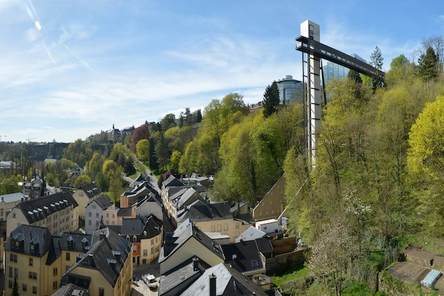 Photo shows homes in the Pfaffenthal district of Luxembourg City Charles Soubry/archives
