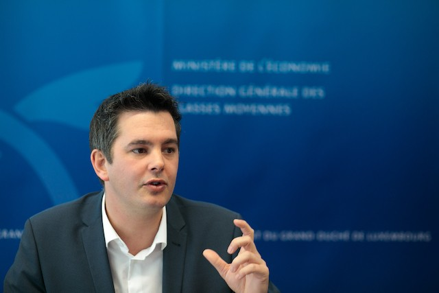 2020 archive photo shows Luxembourg minister for tourism and small and medium size businesses Lex Delles Matic Zorman