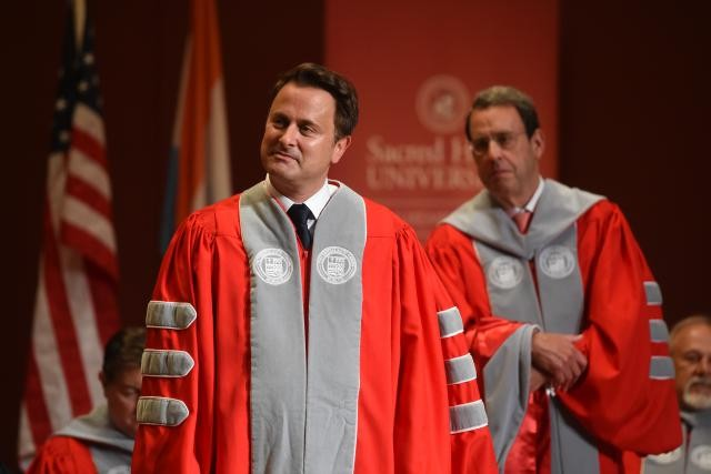 On Thursday 15 June, Bettel, pictured, was awarded a Doctor Honoris Causa, Doctor of Laws, for his professional accomplishments. Anthony Dehez
