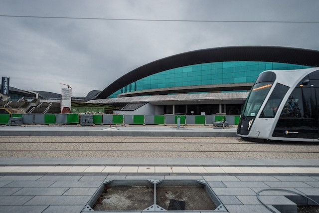 The first stretch of the tram opened in Kirchberg in December 2017 Mike Zenari/archives
