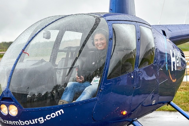 Barbara Agostino has dreamed of flying a helicopter since she was a teenager. Andrés Lejona/Maison Moderne