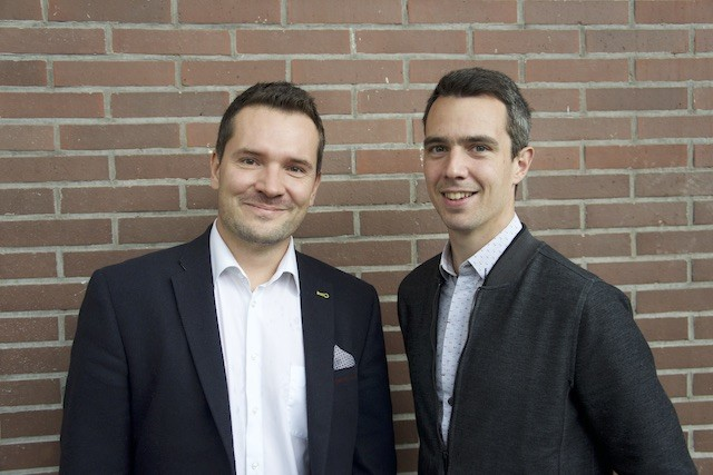 From left: Martin Kracheel and François Sprumont from LuxMobility Maison Moderne