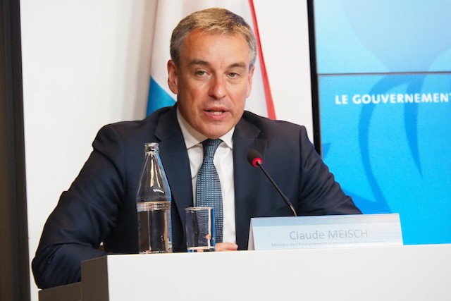 Education minister Claude Meisch is pictured speaking on Monday Luxembourg Government