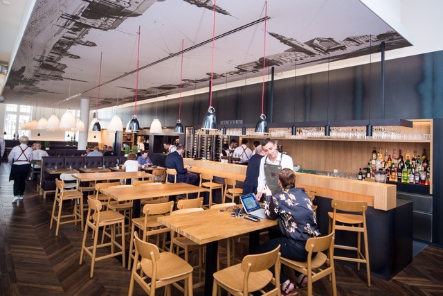 Le Quai Steffen is the new restaurant at Luxembourg's central train station Nader Ghavami