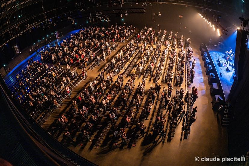 Audience at the Serge Tonnar concert held on Friday, 21 May 2021. (Photo: Rockhal)