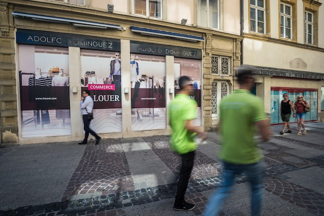 Illustrative photo shows an empty shop in Luxembourg City Mike Zenari/archives