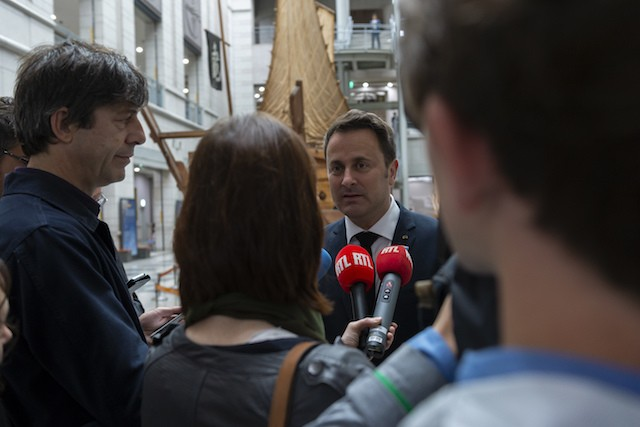 Prime minister Xavier Bettel is pictured in this archive photo of a press briefing Luxembourg government/archives