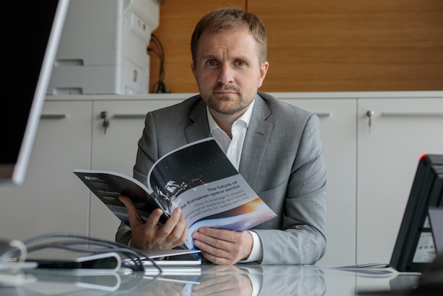 Bogdan Gogulan, pictured, is CEO and managing partner of private equity firm NewSpace Capital Matic Zorman