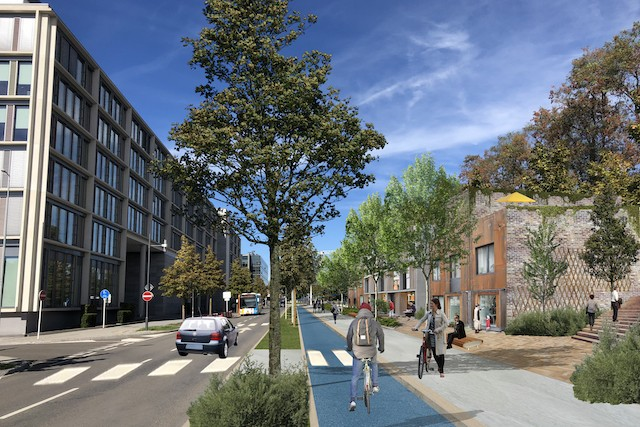 A vision of the future of rue Erasme as seen by architectural firm Gehl Gehl