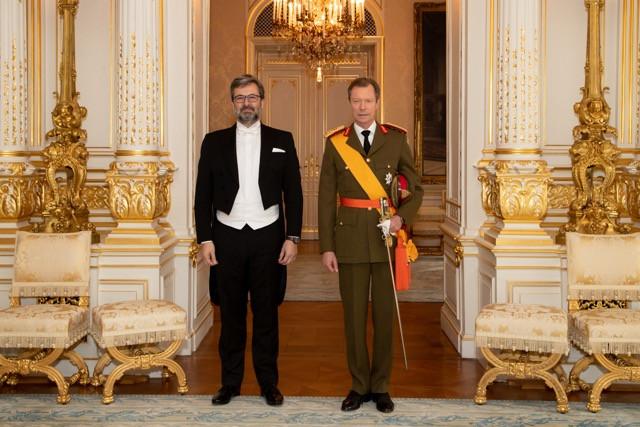 Vladimír Bärtl of the Czech Republic poses with Grand Duke Henri Cour grand-ducale / Claude Piscitelli